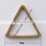 Gets brass triangle key ring