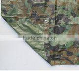 150 gram single side lamination camouflage tarpaulin with metal eyelets