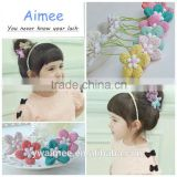 Fashion decoration Stretchy cute five flower hair accessory for kid(AM-HR0016)