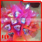 HALAL valentine heart rose shape chocolate candy bouquet