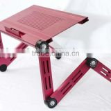folding aluminum laptop bed stand