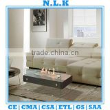 [N.L.K] high quality indoor table Ethanol fireplace CE certificate china indoor bio glass ethanol fireplace