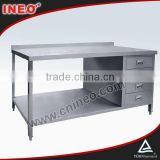 stainless steel work table drawers/work bench table/kitchen stainless steel work table