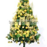 artificial pine needle and pvc Christmas tree with decoration