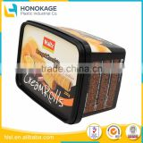 500g Square Food Storage Container Set for Cheese Box, Black Plastic Container