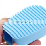 CY177 Mini Candy Colour Wash Board, Silicone Hand-Held Washing Clothes Brush Cleaning Laundry Washboard