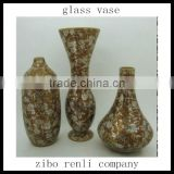 Modern Color Mosaic Glass Flower Ornament Cheap Wholesale Hand Made Glass Vase