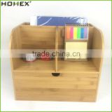 Bamboo File Holder Organizer and Desktop Organizer with Drawer in Office/Homex_FSC/BSCI Factory