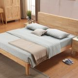 Good price and High quality China Shenzhen Home bedroom furniture rubber wood King/Doube Bed to USA/European/African