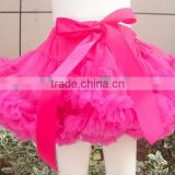 Wholesale Super Fluffy Girls Party Dance hot pink Pettiskirts Ballet Girls Ruffled Tutu Fluffy Chiffon Soft Summer Pettiskirts