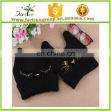 customized wholesale acrylic cat ear knitted hat