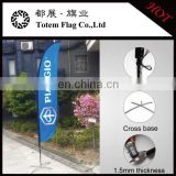 can be OEM custom 2.5m 3.5m 4.5m 5.5m Outdoor full color heavy duty flying banner beach flag