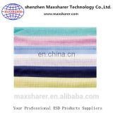 Various colors recycled 5mm strap/grid clothing fabric antistatic esd cleanroom polyester fabric
