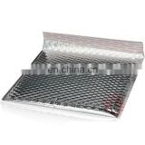 China factory wholesale silver aluminum film bubble envelope bag, shockproof aluminum foil laminate bubble bag