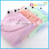 Elinfant soft and comfortable hooded baby bath towel keep baby dry and warm