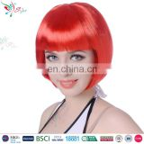 Styler Brand wholesale sexy bob style hair wig women 10 Inch short red wig