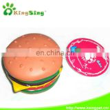 bited hamburger pet toy/dog toy