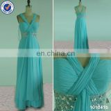 in stock long strap halter sweetheart beaded chiffon bridesmaid dresses