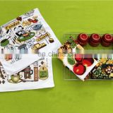 wholesale 2015 new cut pile product printing 100% cotton tea towel