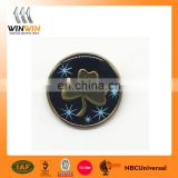 2017 new design hard enamel with epoxy round label pin