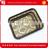 Custom rectangle ps plastic service salver with anti slip coating wholesales