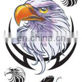 Hot selling! 2012 non-toxic water Transfer temporary American eagle tattoo sticker