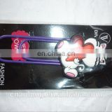 lovely cartoon design custom made soft pvc bookmarks for souvenir