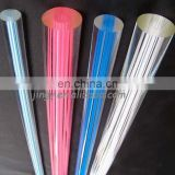slippy surface and colorful fringe acrylic cylinder rod