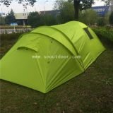 Waterproof Big Camper Tents For 8 Man Family Cabin Tent Double Layer Fiberglass Pole Camping