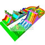 Outdoor playground kids inflatable obstacle course for party