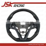 CARBON FIBER STEERING WHEEL FOR HYUNDAI VELOSTER (WRAPPED CARBON) (JSK140309)