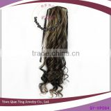 cheap grey Curly Wholesale Synthetic Hair Extension