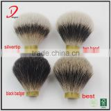 Wholesale best badger hair shaving knots,silvertip black badger shaving brush knots