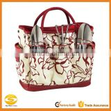 printed red nylon garden tool organizer bag for ladies,garden tool bag in bag organizer,garden tool bag in bag handbag organizer