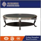 Cheap living room furniture wooden legs round/oval lift top rotating marble/glass coffee table