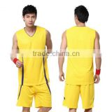 2016 new designs sportwear custom blank jersey reversible basketball exercise uniform set