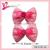 Fashion accessories 2015 hair jewelry with plastic bows,mini baby hair bow clips