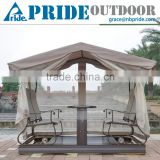 Simple Modern Sun Room Four-Bit Garden Wrought Iron Gazebo Dynamic Outdoor Gazebo Swing                                                                         Quality Choice