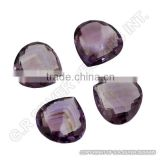 AAA quality amethyst briolette heart gemstones wholesale stones suppliers