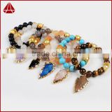Women's 10mm Guangzhou Gemstone Agate Beaded Bracelet Sets with Arrowhead Charm                                                                         Quality Choice