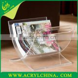 Transparent acrylic magazine display holder PMMA book display rack acrylic display holder
