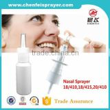 Chinese factory hot sale different size discharge rate 0.12ml nasal atomizer plastic medical nasal spray with favorable price