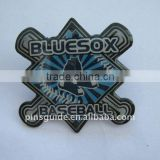 4C offset printing lapel pin for baseball