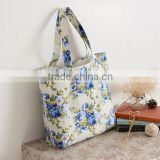2015 Custom Full Color Printed Linen Beach Bag Cotton Canvas Handbag Tote Bag Wholesale Yiwu