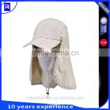 UV 50+ Outdoor Sun Protection Fishing Cap neck flap hat