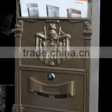 hot sale large or small mailbox sculpture lock