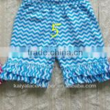 2013 Short summer kids shorts cotton chevron printed so cute baby double ruffle cotton shorts