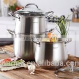 2016 New Charms induction cooking pot fabrication&Stainless Steel Enamel Casserole 3&High quality threes layers steamers                                                                         Quality Choice