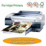 260G Micro-porous RC Satin For Inkjet Printers Photo Paper                                                                         Quality Choice