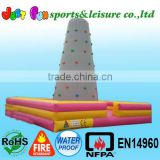 Hot sale inflatable climbing rock climbing wall,rock climbing game